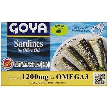 Goya Sardines In Olive Oil, 4.25 Ounce (Pack of 25)