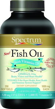 Spectrum Diversified Spectrum Essentials AY40224 Spectrum Essentials Fish Oil With Vitamin D -1x250 Sgel
