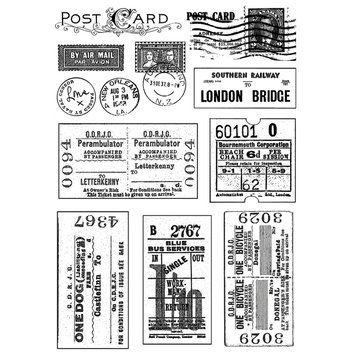 Cam Consumer Products, Inc. Crafty Individuals Unmounted Rubber Stamp Vintage Tickets and Postmarks