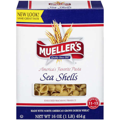 Mueller's Sea Shells Enriched Macaroni Product Pasta, 16 oz