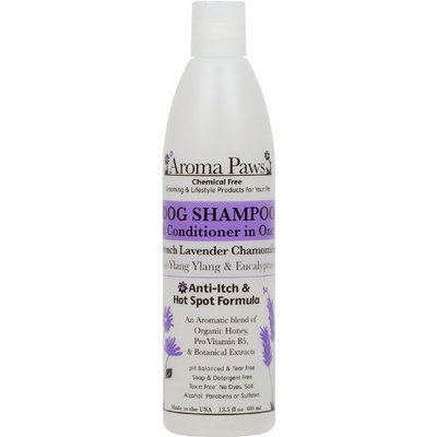 Aroma Paws 12 oz. Luxury Dog Shampoo & Conditioner in One Lavender Chamomile: Anti-itch & Hot Spot Relief Formula