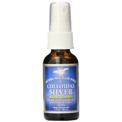 Natural Path Silver Wings Colloidal Silver Herbal Tincture Spray, 1 Fluid Ounce