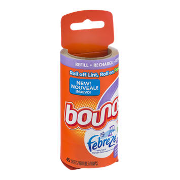 Bounce Lint & Freshness Roller With Febreze Refill Spring & Renewal