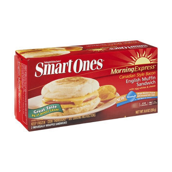 Weight Watchers Smart Ones Morning Express Canadian Style Bacon English Muffin Sandwich - 2 CT