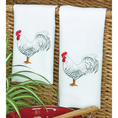 Dimensions Acquisition Llc Dimensions Rooster Guest Towels Stamped Embroidery 16