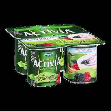 Dannon Activia Harvest Picks Mixed Berries Yogurt - 4 CT
