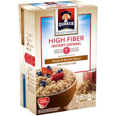 Quaker® High Fiber Instant Oatmeal Maple And Brown Sugar