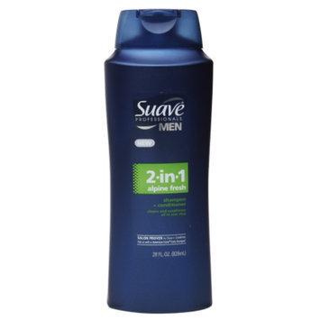 Suave Professionals Men 2-in-1 Shampoo and Conditioner, Alpine Fresh, 28 fl oz