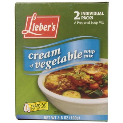 Liebers Soup Mix, Cream of Vegetable, Passover, 3.50-Ounce (Pack of 8)