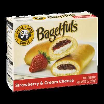 Einstein Bros. Bagels Bagel-fuls Strawberry & Cream Cheese - 4 CT