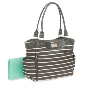 Carter's Zip Down Changing Pad Diaper Bag in Grey/White