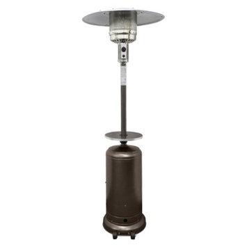 RTA International Garden Sun Tall Propane Patio Heater with Table - Hammered Bronze