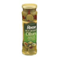 Reese Hot Deviled Olives Stuffed With Chili Peppers