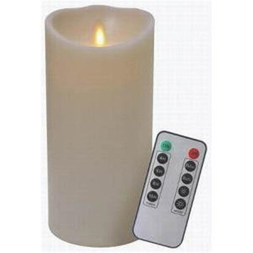 Veraflame E03569B-I Candle Ivory Waxflame Remote 7 in.