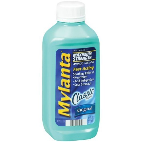 Mylanta Antacid/Anti-Gas, Maximum Strength, Original, 12 fl oz (355 ml)