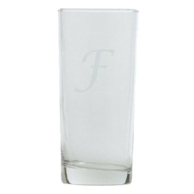 T&C Innovators Script Monogram Highball Set of 4 - F