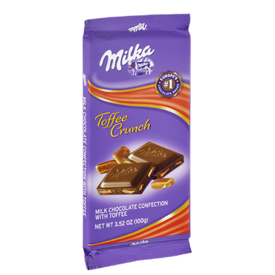 Milka Toffee Crunch Milk Chocolate Confection