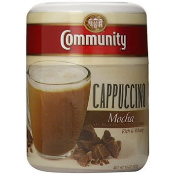 Community Coffee Instant Cappuccino Mocha, 15 oz., 3 Count
