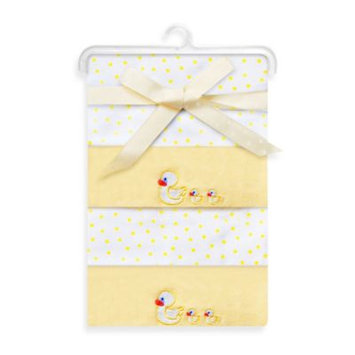 Spasilk RB Z4H 04 4 Pack Receiving Blanket - New Yellow Duck