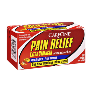 CareOne Pain Relief Extra Strength Pain Reliever-Fever Reducer - 100 CT