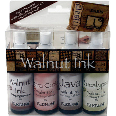 Tsukineko Walnut Ink Antiquing Solution Set