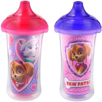 Munchkin PAW Patrol Click Lock 9-oz Insulated Sippy Cup, Girl, BPA-free, 2pk