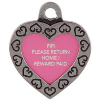 TagWorks Designer Collection Personalized Heart ID Tag