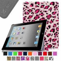 Fintie SmartShell Case for Apple iPad 4th Generation with Retina Display, iPad 3 & iPad 2, Leopard Pink
