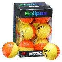 Nitro Eclipse 12 Pk Golf Balls-Yellow/Orange