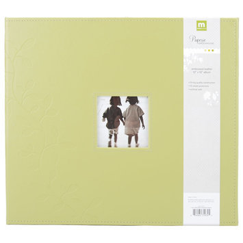 Making Memories Embossed Leather 3-Ring 12x12 Scrapbook Album w/Window - Green