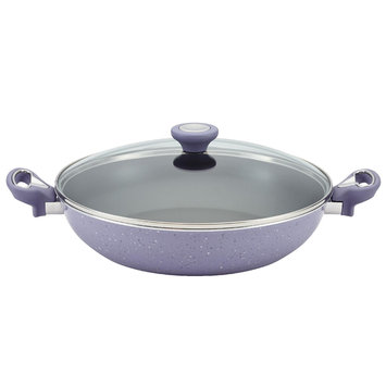 Meyer Corporation Us-farberware Division 12-1/2-Inch Covered Skillet with Side Handles, Lavender
