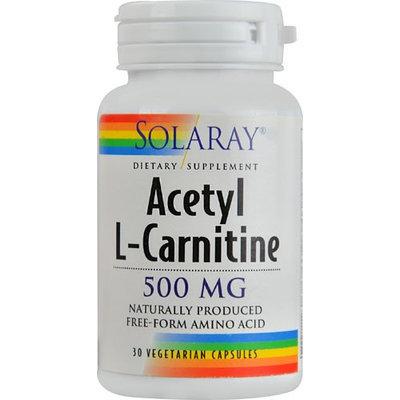 Solaray - Acetyl L-Carnitine 500 mg. - 30 Vegetarian Capsules