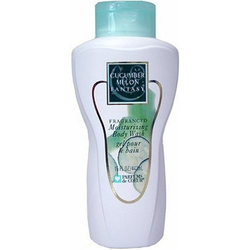 Cucumber Melon Fantasy by Parfums De Coeur for Women Fragranced Moisturizing Body Wash, 15 Ounce