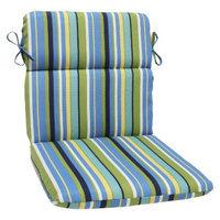 Pillow Perfect Outdoor Round Edge Chair Cushion - Topanga Stripe