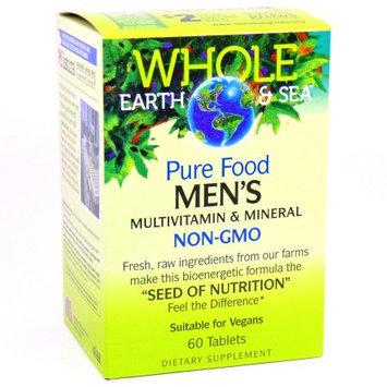 Whole Earth & Sea Men's Multivitamin & Mineral Natural Factors 60 Tabs