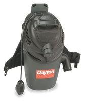 DAYTON 1TFX2 Backpack Vacuum Cleaner, 16 qt, 12A