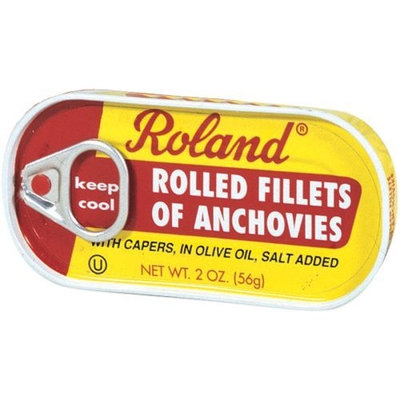 Roland Rolled Anchovy Fillets with Capers