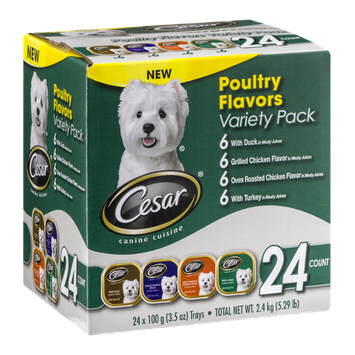 Cesar Canine Cuisine Poultry Flavors Variety Pack - 24 CT