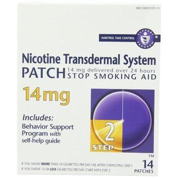 Habitrol Nicotine Transdermal System Patch, Stop Smoking Aid, 14 mg, Step 2, 14 patches