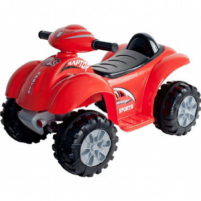 Lil' Rider Battery Powered Raptor 4 Wheeler Red Ages 2-4