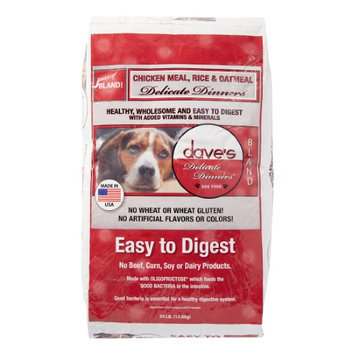 Dave's Pet Food Dog Food - Chicken, Rice and Oatmeal - 30 lb. Bag