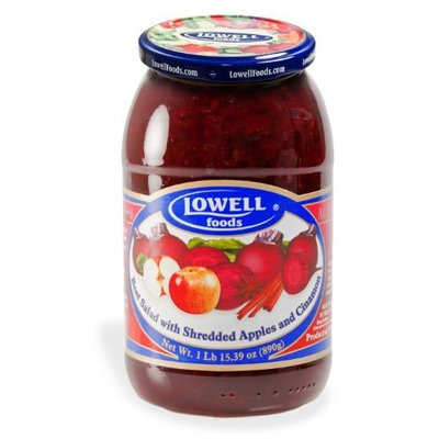 Lowell Foods Beet Salad with Shredded Apples and Cinnamon, 15.39-Ounce (Pack of 6)