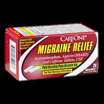 CareOne Migraine Relief Coated Caplets - 24 CT