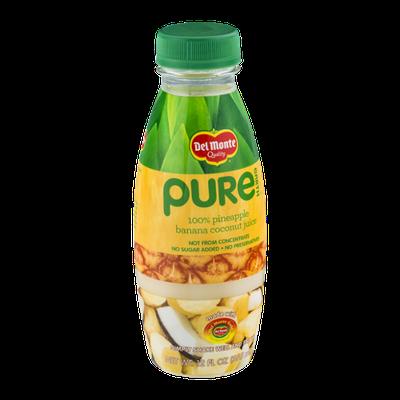 Del Monte® Pure Earth 100% Pineapple Banana Coconut Juice