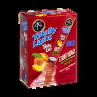 4C Totally Light Sugar Free Tea 2Go Red Tea Antioxidant Peach Drink Mix - 20 CT