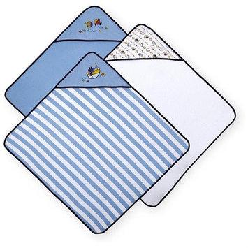 Koala Baby Boys' Hooded Towels 3 Pack - Blue Fish
