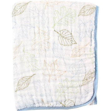 Baby Vision Touched by Nature Organic Muslin Stroller Blanket - Boy Leaves