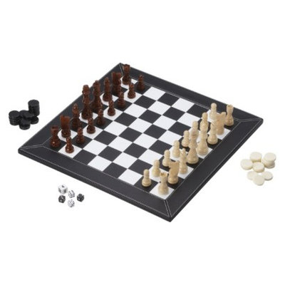 Glaxo Smith Kline Mainstreet Classics 3 in 1 Chess/ Checkers/ Backgammon Game Slate