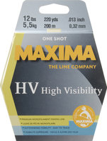 Maxima Manufacturing Company Maxima One Shot Spool Hi Vis Yellow Line 220 yds.