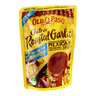 Old El Paso® Chile & Roasted Garlic Mild Mexican Cooking Sauce